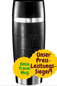 Emsa Travel Mug von oben