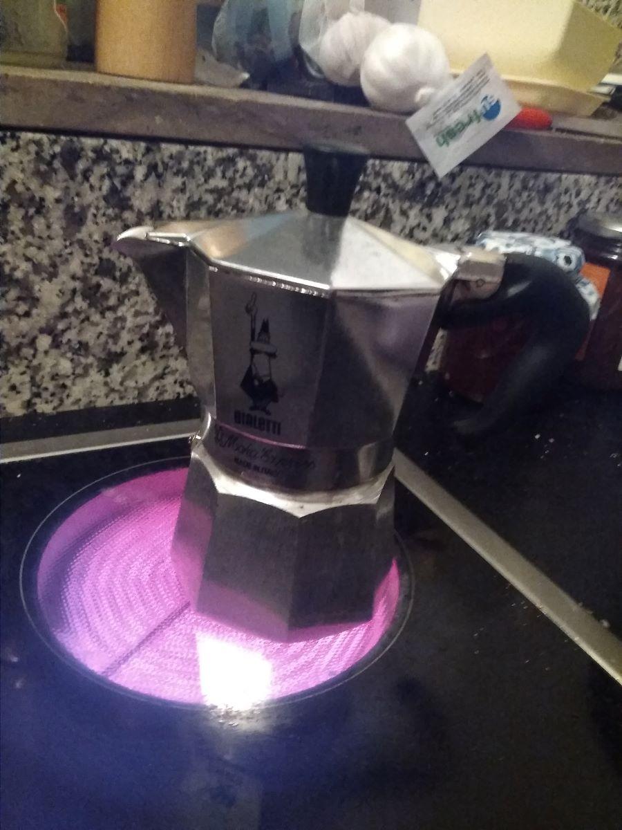 Espressokocher im Einsatz